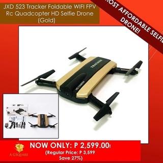 Shopee JXD 523 TRACKER FOLDABLE WIFI QUADCOPTER HD SELFIE DRONE. like: 0