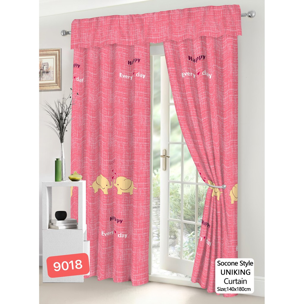 Fashion Simple Curtain Blackout Curtains Pink Cute Elephant Curtain 140 180 New Style 1pc Shopee Philippines