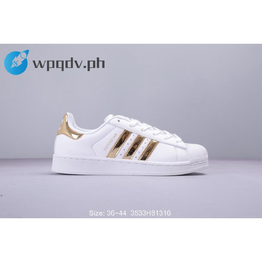 Adidas Low Cut Ladies Women and Mens Shoes Casual Sneakers White Gold Color