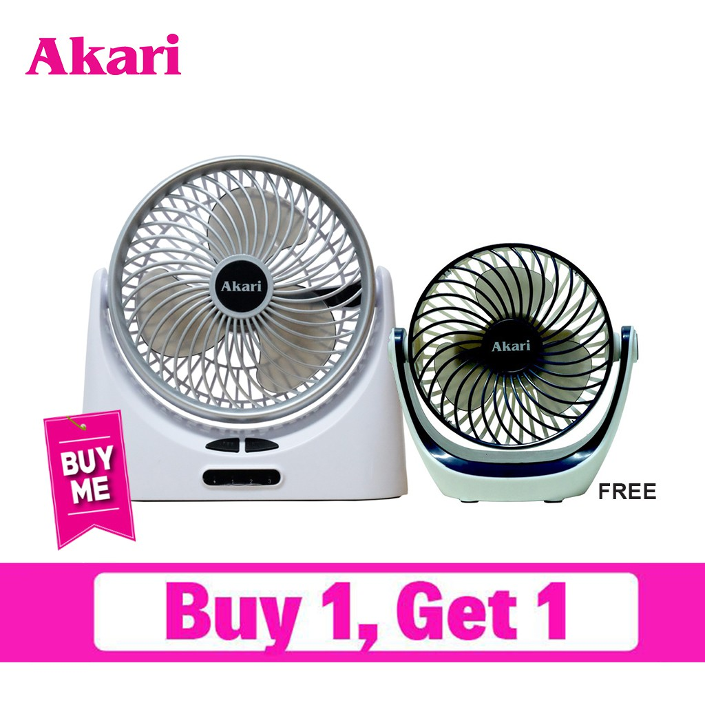 Akari 5 Rechargeable Led Fan Arf 5882 And Akari 360