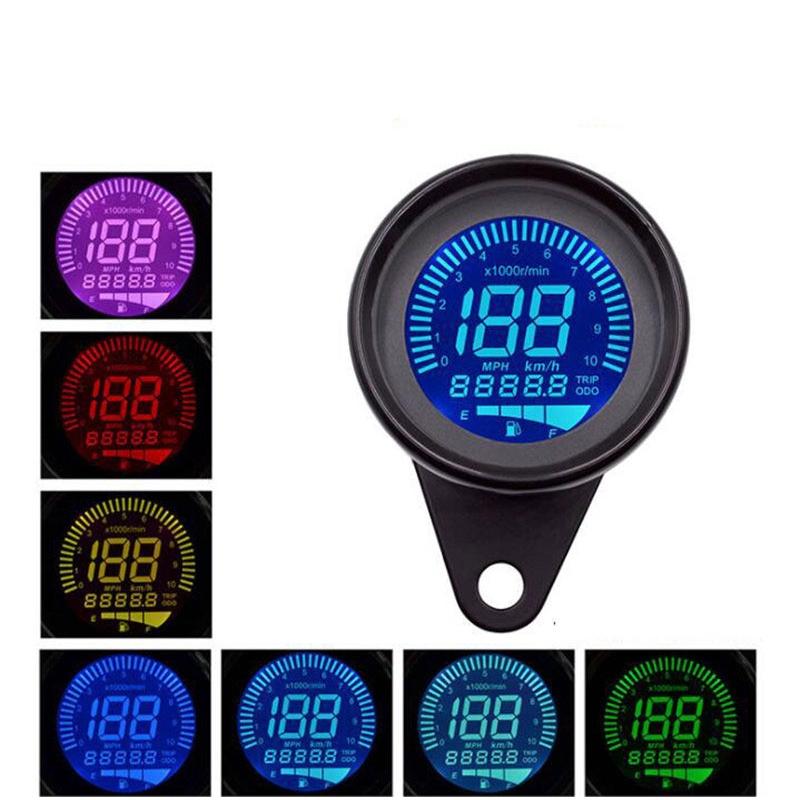 Universal Digital Motorcycle Lcd Screen Speedometer