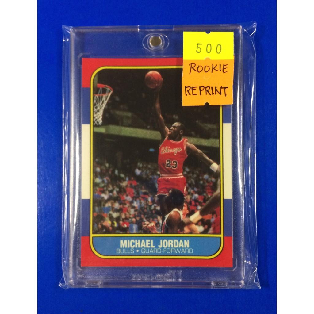 Nba Rookie Card Michael Jordan 1986 Fleer Reprint
