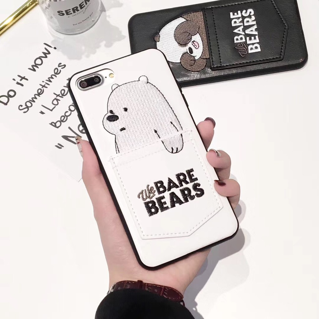 brand new a1069 ea17b We Bare Bears iPhone6 6s i7 i8 plus iPhoneX case soft case