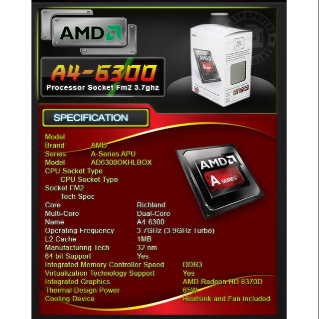 AMD A4-6300 processor