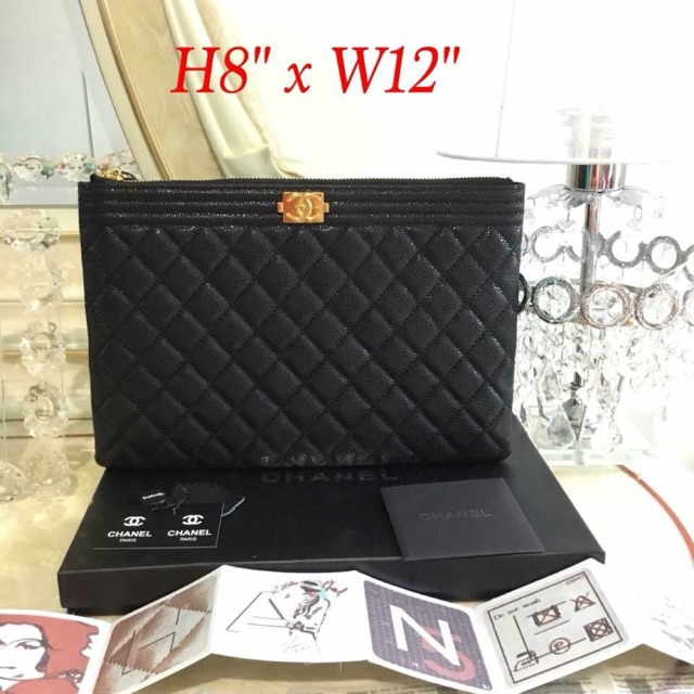 fa8db06373e8 Chanel CC Filigree Grained Round Clutch with Chain Bag | Shopee Philippines