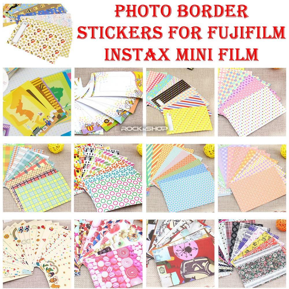 CAIUL DIY Photo Border Stickers For FujiFilm Instax Mini Film