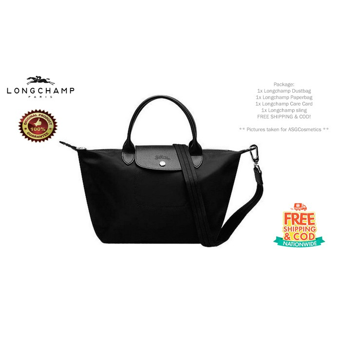 Original Longchamp Neo Le Pliage Black Medium size  153924d3f2