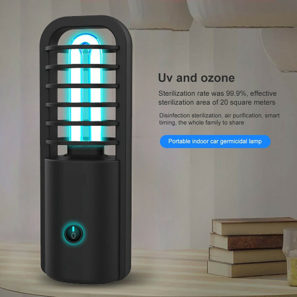 Ultraviolet Disinfection Lamp Portable Travel Anti-Virus UV Ozone Sterilization Rate 99/% Sterilizer UV Disinfection Lamp for Home Office Car Outdoor