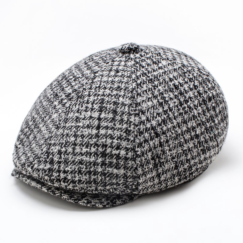 eb4f7ca87ade6 Men Vogue Vintage Wool Knit Brimless Cap Skull Cap Warm