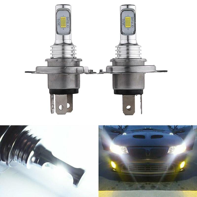 4 Sides 9003 H4 HB2 LED Headlight Kit 80W 6000K 8000LM Bulbs HID High Low Beam