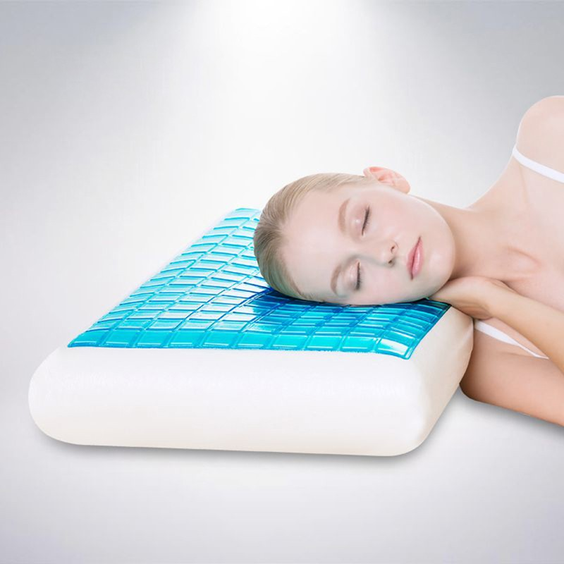 Memory Foam Cooling Pillow Gel Pad For Cool Sleeping Night Orthopaedic Comfort