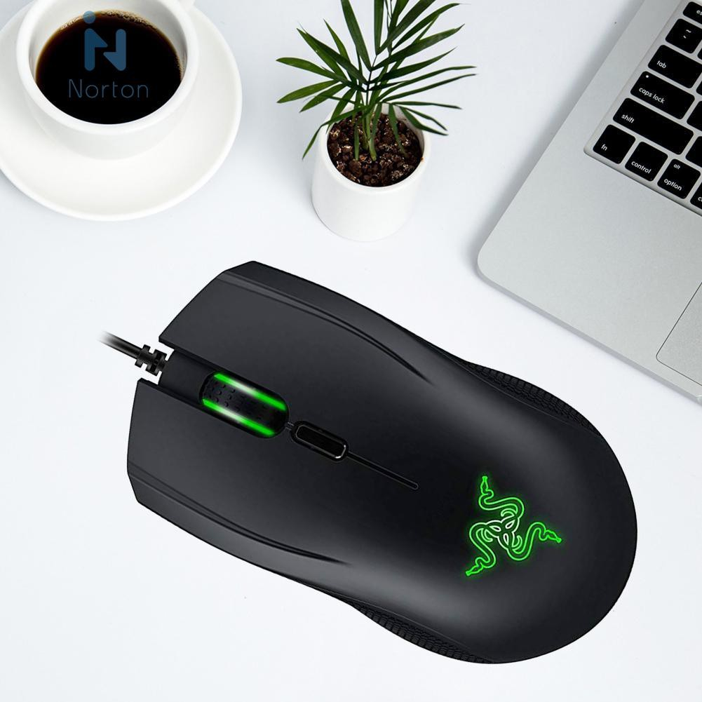 🎈NOR🚚Razer Abyssus 2000 USB 2000DPI Wired 3 Keys Macro Programming  Mice+Pad Kit