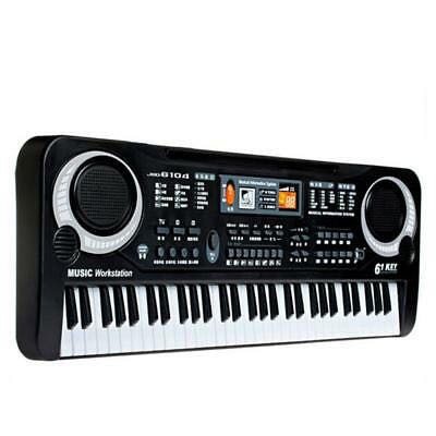 61 Key Electronic Keyboard Piano Musical Instrument Kit with Microphone  Music Teaching Toys for Kids