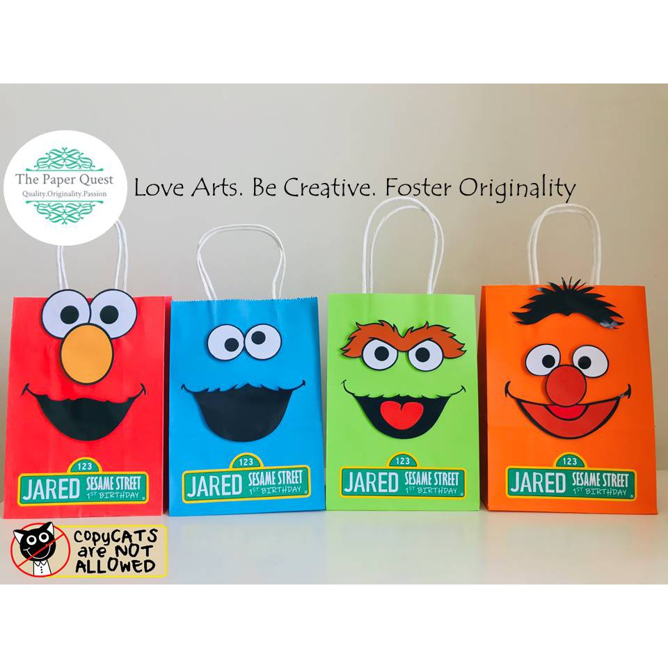 Sesame Street Personalized Loot Bags