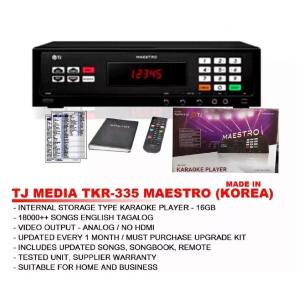 05712a3051e Videoke Player W/box Keyboard Type (TJ MEDIA w/Wireless Mic) | Shopee  Philippines