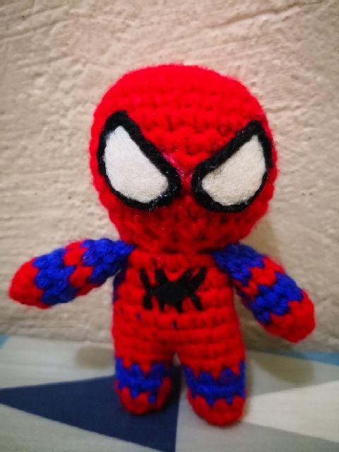 Spider-man toy crochet, Amigurumi super hero, gift for guy, spider ... | 640x480