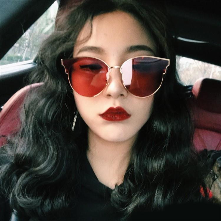 6afb7ea920 2018 new net red with the paragraph sunglasses female Korean retro tide  borderless beach polarized