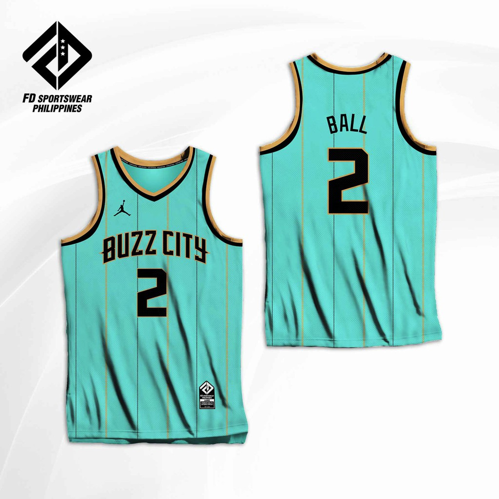 Buzz City Charlottle Hornets Lamelo Ball 2021 City Edition Full Sublimated Jersey Shopee Philippines