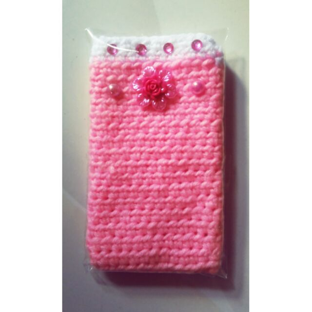 Crochet Cellphone Case Souvenir Pink Shopee Philippines