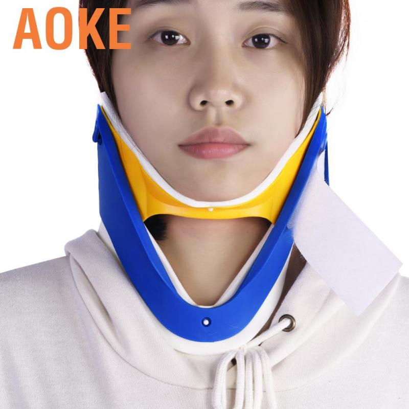 Aoke Adjustable Neck Brace Cervical Traction Fixation Spine Care Correction Protection Pain Relief