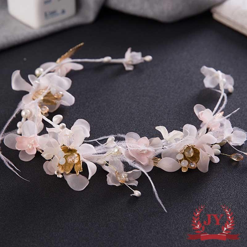 Handmade headband NEW side tiara Vintage Peach Flower Fascinator