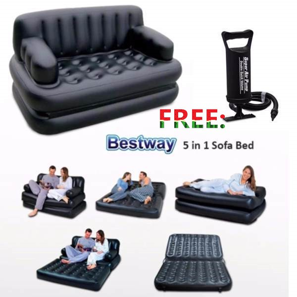 Pleasing Bestway 5 In 1 Inflatable Sofa Air Bed Couch With Free Pump Creativecarmelina Interior Chair Design Creativecarmelinacom