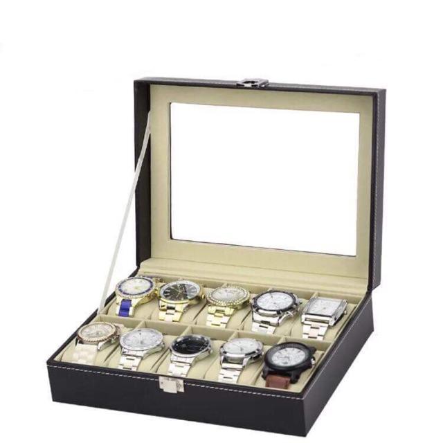10 Slot Watch Storage Box Case Watch Organizer