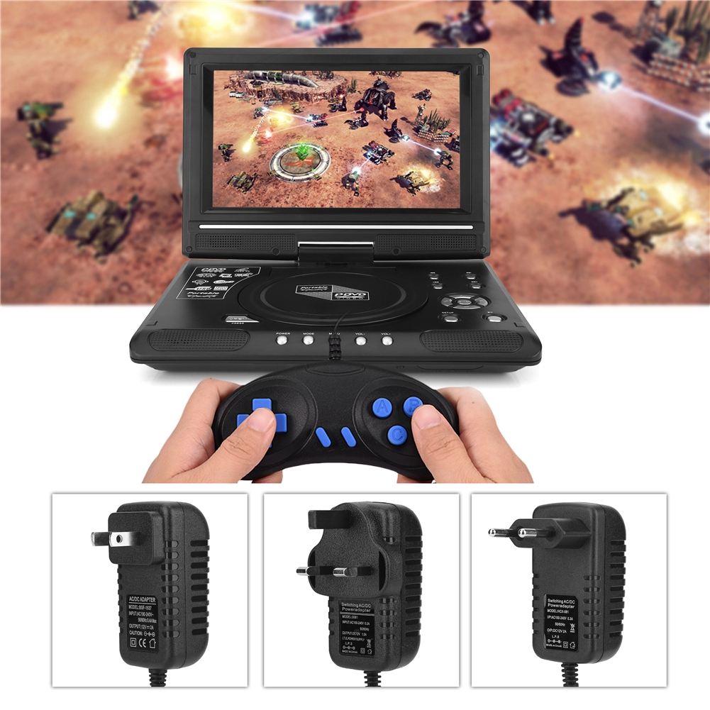 TV Player Portable HD 9 8'' LCD Screen DVD Game TV Player