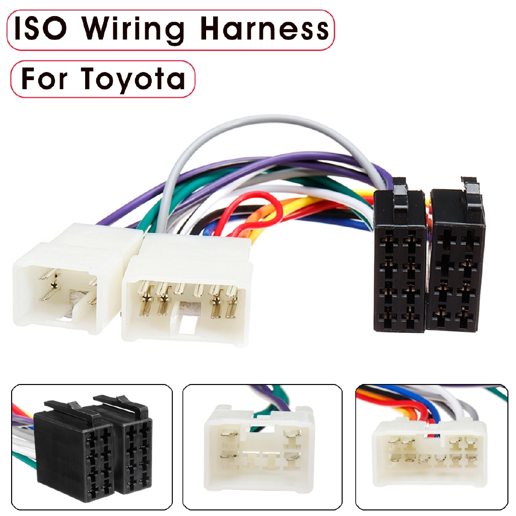 car stereo radio iso wiring harness plug loom adaptor | shopee philippines  shopee philippines