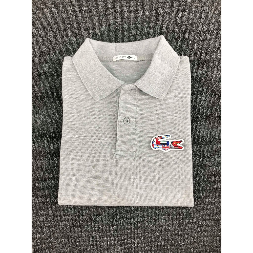 586e78aa Lacoste White Polo Shirt (Word Edition) | Shopee Philippines