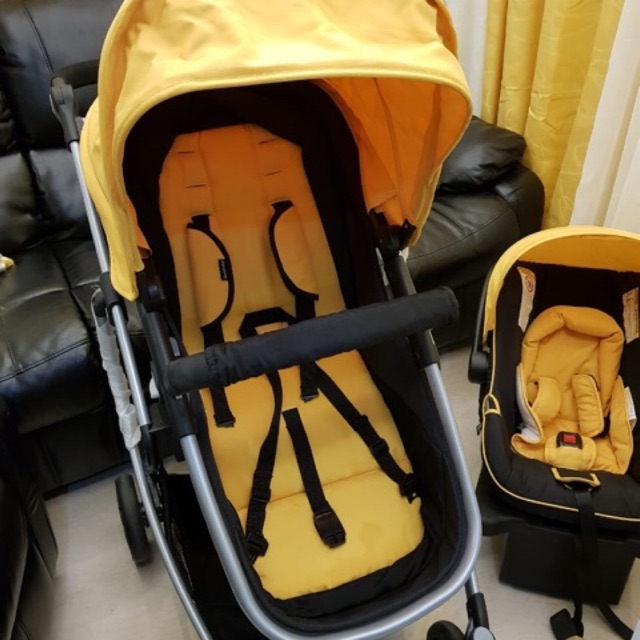 Goodbaby Luxury High Impact Stroller, Yellow Car Seat And Stroller