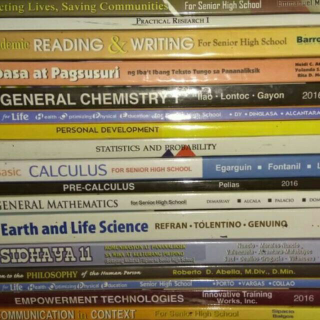 Grade 11 STEM books