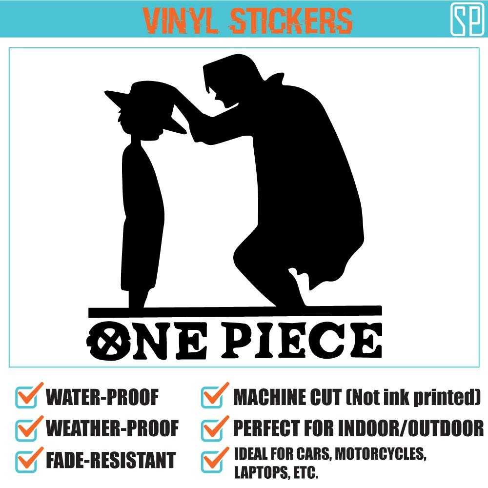 one luffy shanks vinyl decal sticker shopee