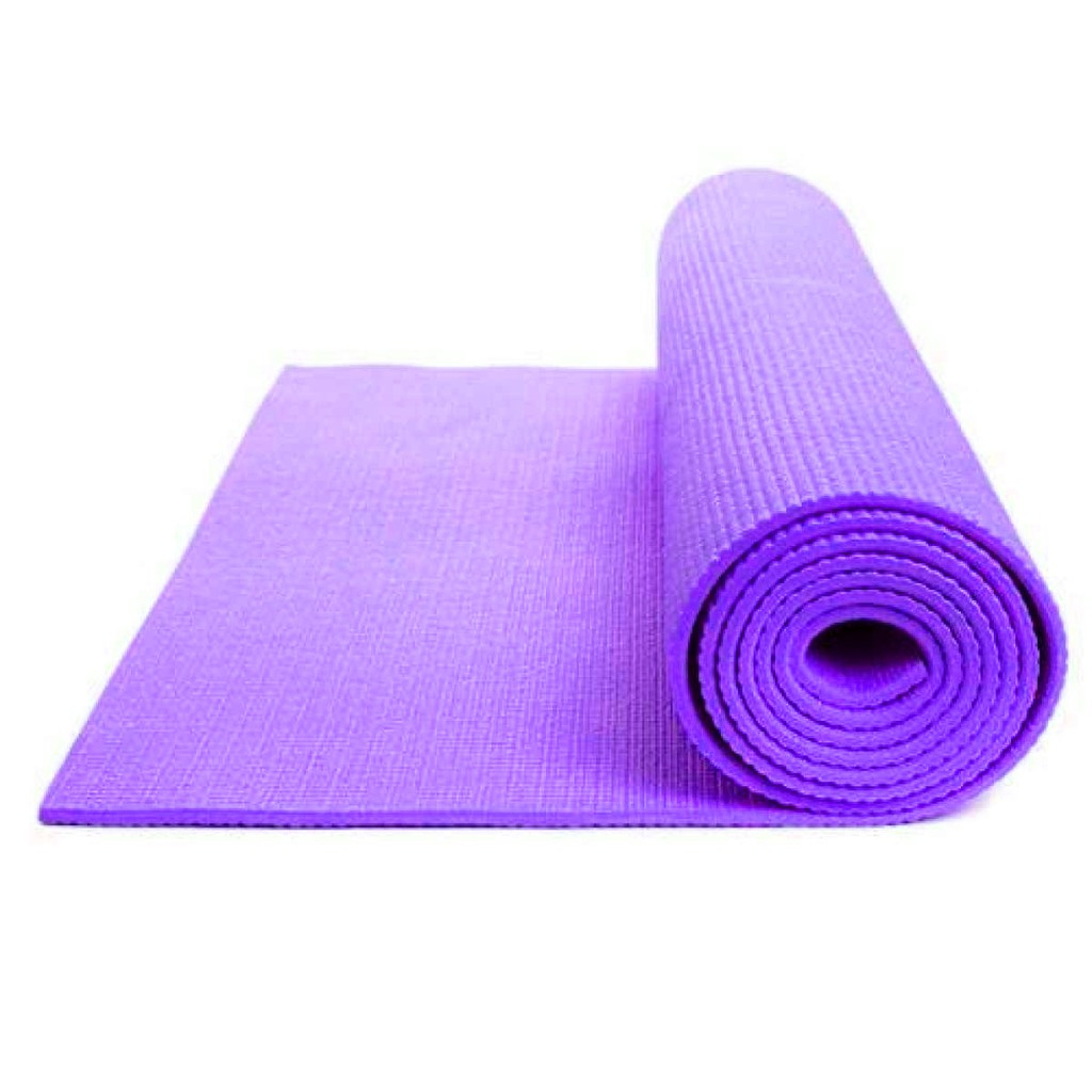EXTRA THICK 6mm Non-Slip Yoga Mat Exercise blue/&purple 173cm x 61cm With Straps!