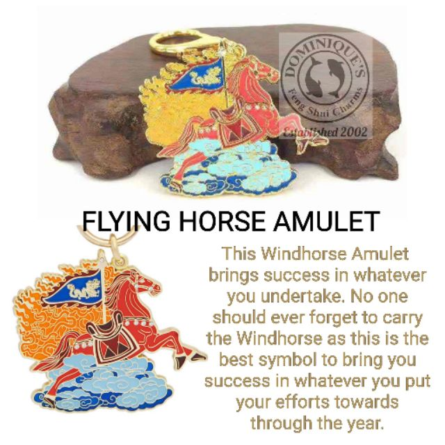 2019 flying horse windhorse amulet by Lilian Too charm