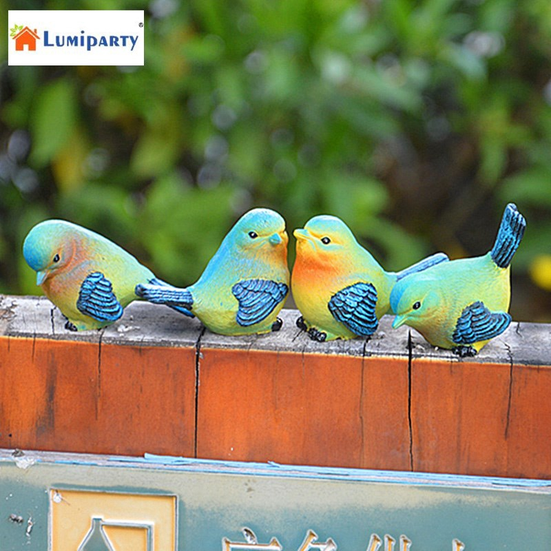 Lovely Resin Mini Bird Figurines Statue Home Table Counter Decoration Set Of 4 Styles Shopee Philippines