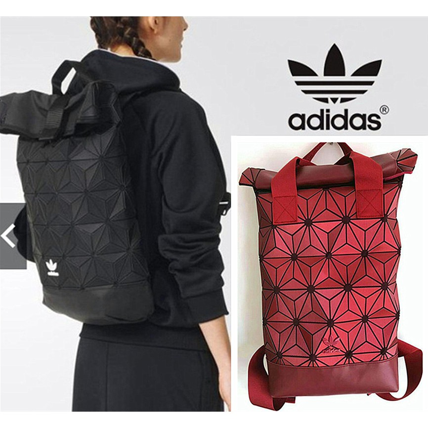 Orginal 2017 new adidas 3D mesh roll top backpack  b856045831fda