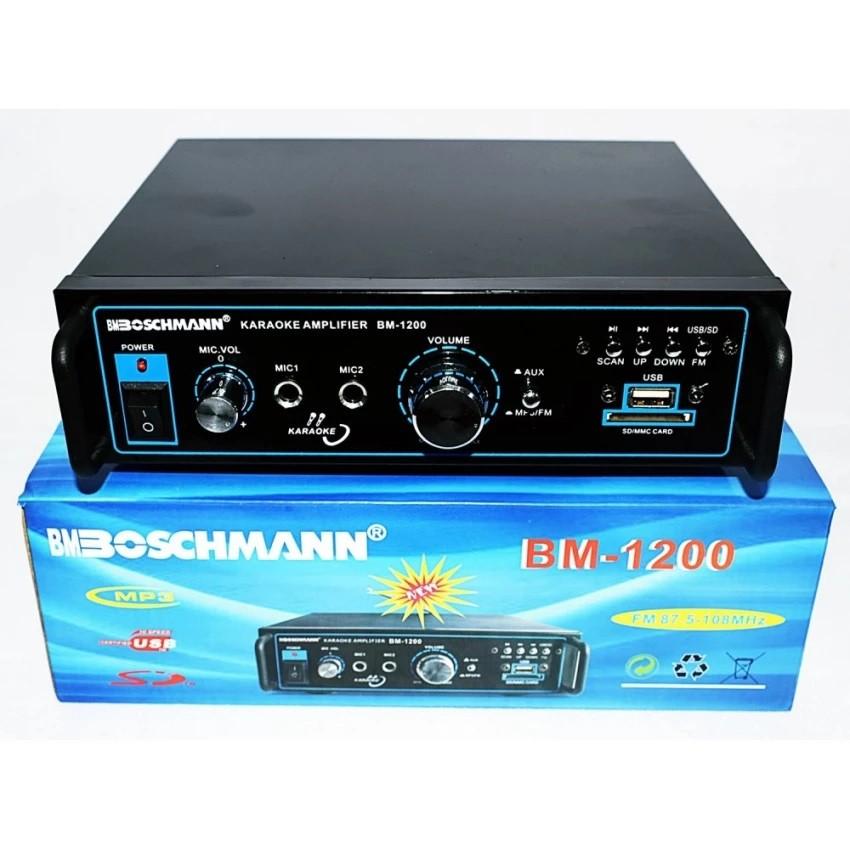 STEREO AUDIO BOSCHMANN POWERED KARAOKE AMPLIFIER BM-1200