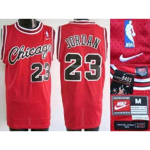 buy popular a98de e614d Nike Chicago Jordan jersey basketball Jersey red #23