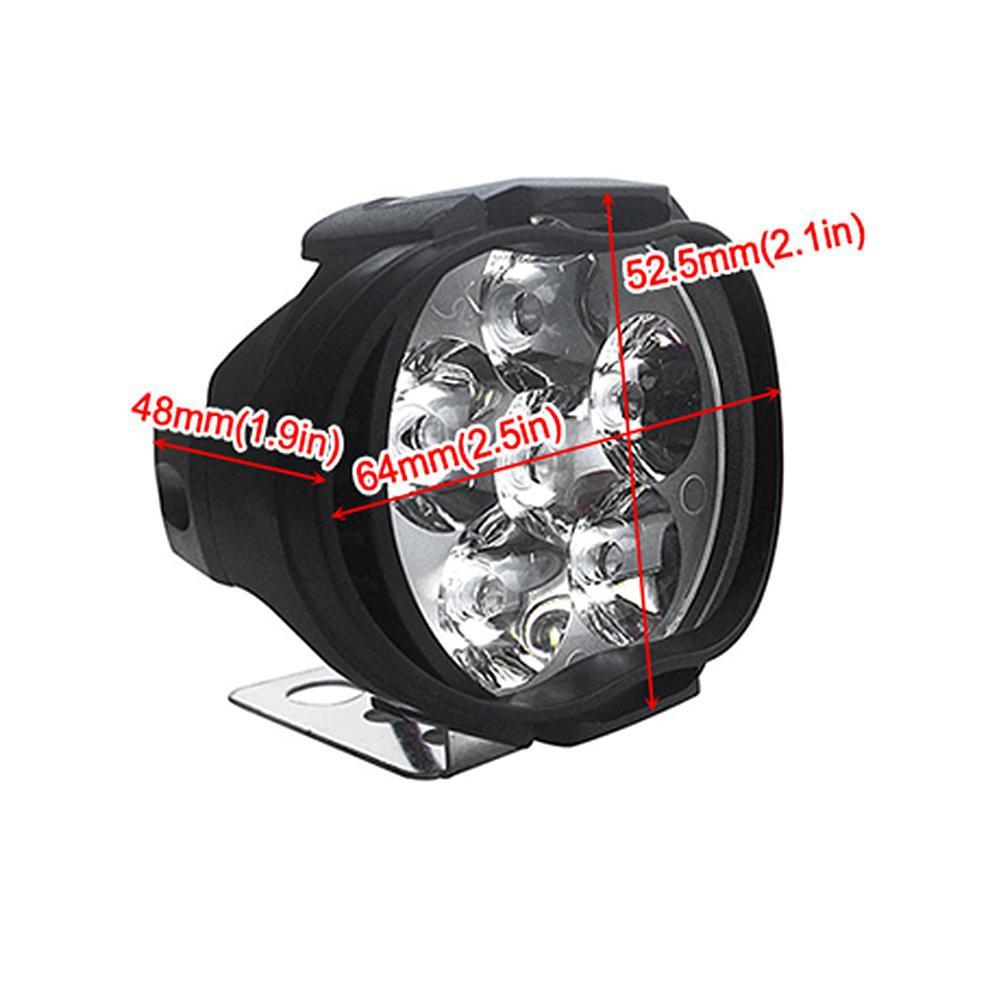 2pcs CNSUNNYLIGHT 1000LM Motorcycle 6LED Headlights Scooter Fog Spotlights //KT