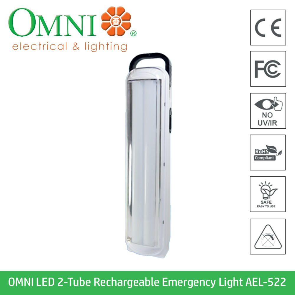 2 Tube Rechargeable Light Emergency Ael Led 522 Omni UzqMGSVp