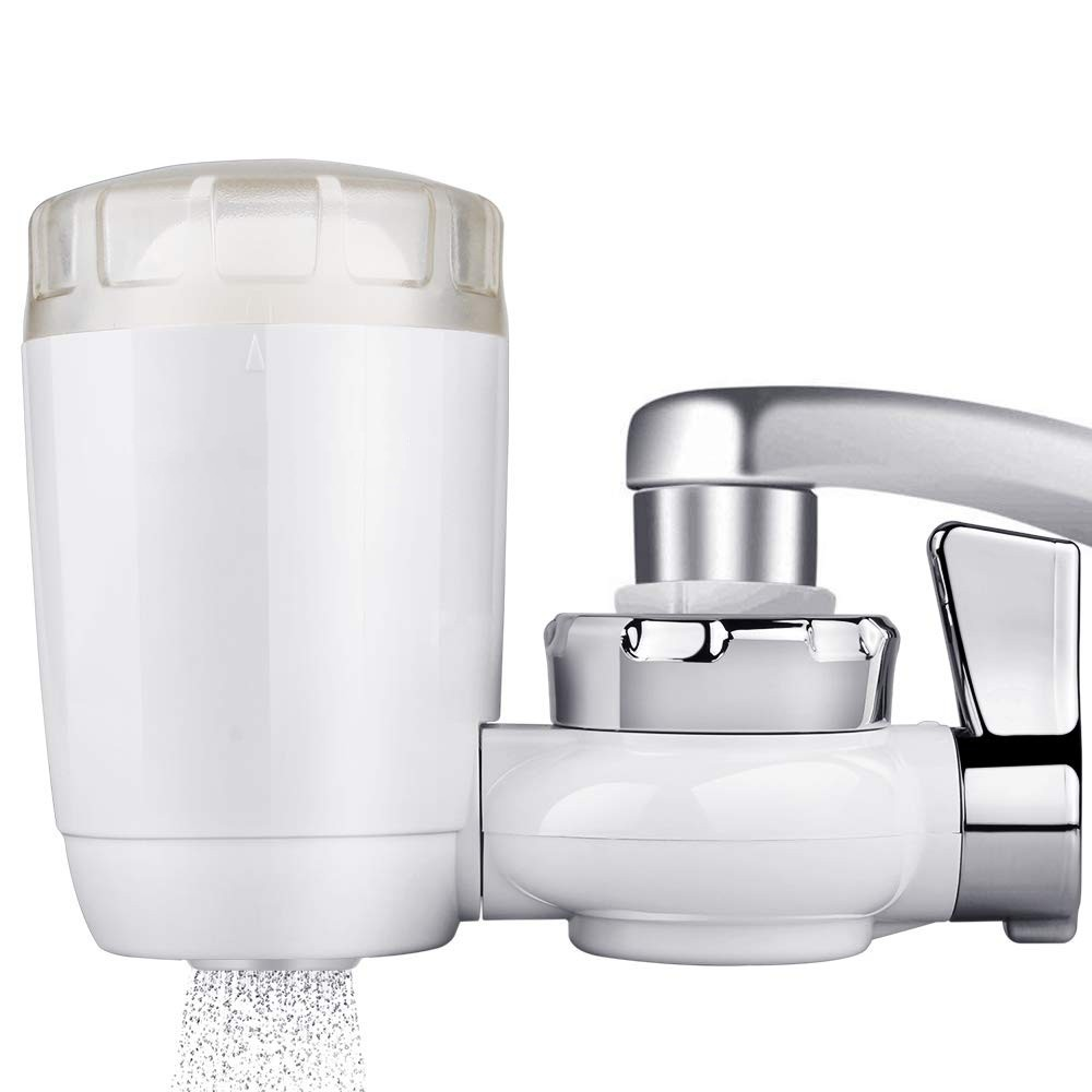 Tap Water Faucet Filter,7-Layer Filtering System Water Purifier Water Filter with Ultra Adsorptive Material,BPA Free Fits Standard Faucets for Kitchen and Bathroom Sink