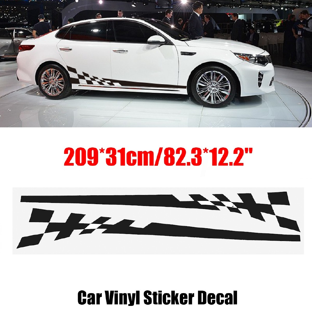 2pcs car body side decals graphics racing stripe stickers shopee philippines