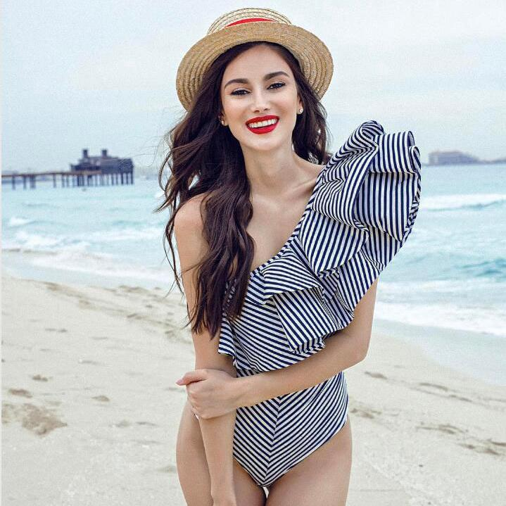 eceeab441d PLUS SIZE Coco Cabana One Piece Dress Swimsuit | Shopee Philippines