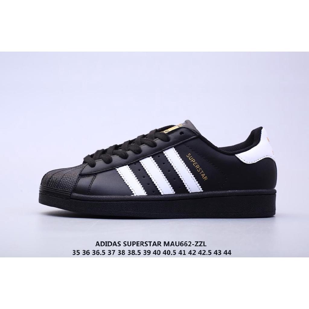 adidas superstar black white original