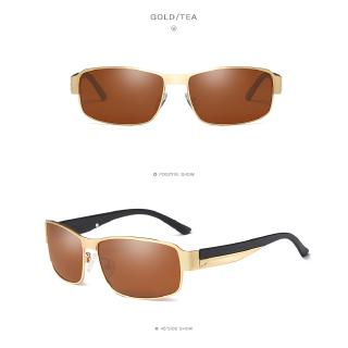 Fashion Mens Retro Square Polarized Sunglasses Metal Frame Design Men Cool Eyewear Male Sun Glasses