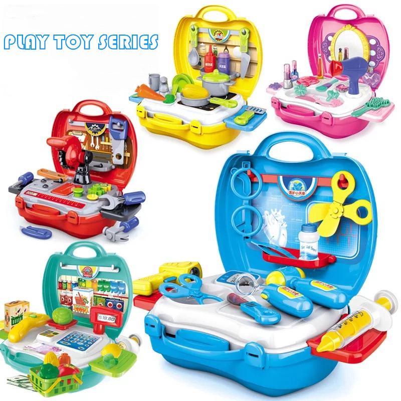 Pretend Play Set Kids Toy Kitchen Medical Make Up Tools Set ...