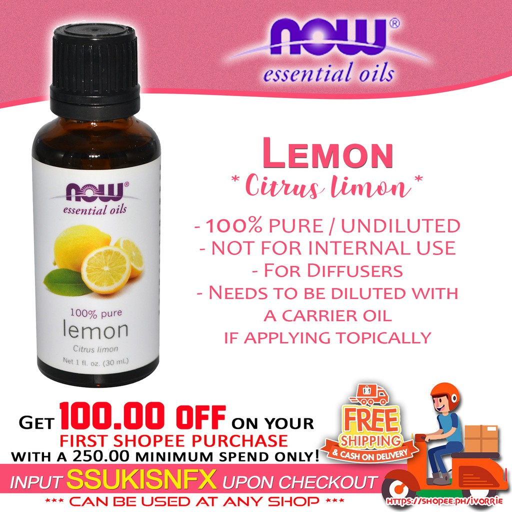 NOW - LEMON 100% pure undiluted essential oil