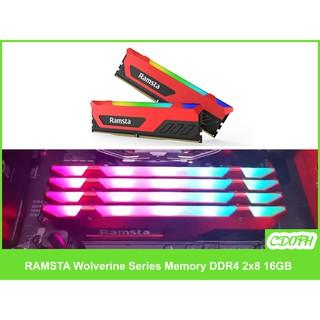 Ramsta RGB Ram 16GB DDR4 2x8 3200mhz Wolverine Series Memory