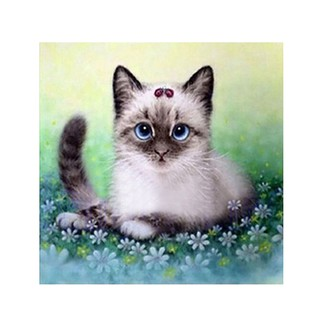 Cross stitch kit Kitten at the walk M-173
